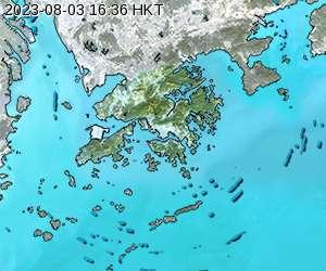本港天氣雷達圖像
