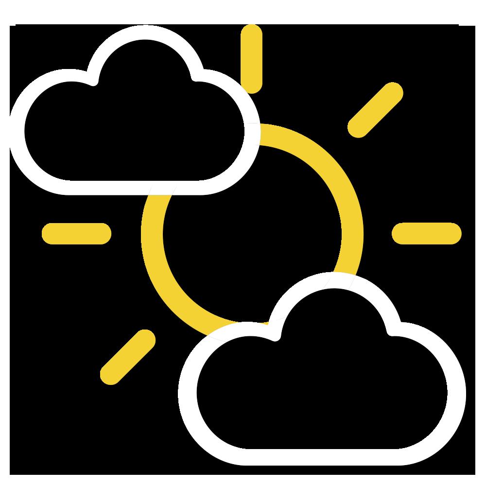 大致多雲,日間短暫時間有陽光。